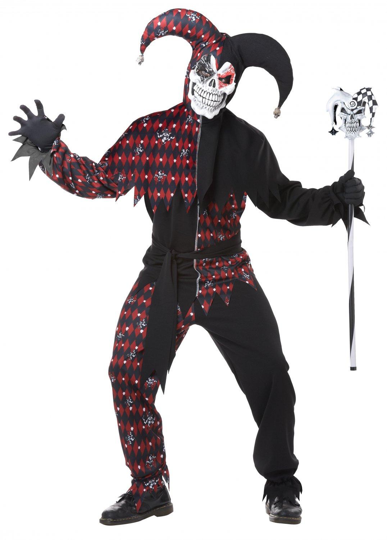 Sinister Jester Clown Adult Costume Size: Medium #01372