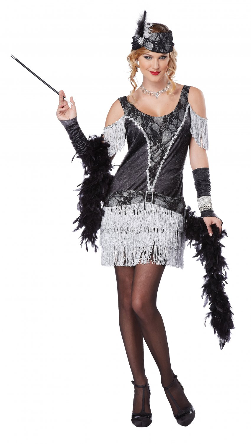 Razzle Dazzle Fashion Flapper Adult Costume Size: Medium #01352