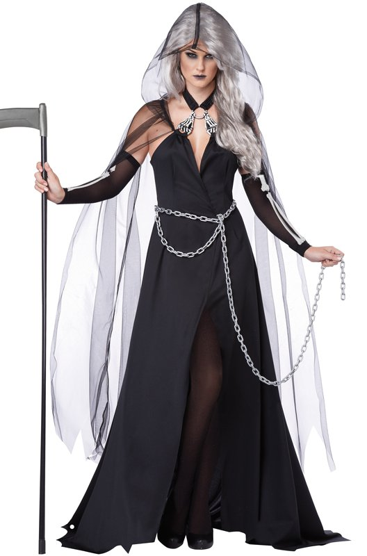Grim Skeleton Lady Reaper Adult Costume Size: Medium #01333