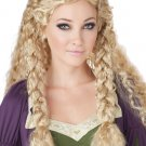 Games of Thrones Nordic Viking Princess Renissance Adult Costume Wig - Blonde #70791