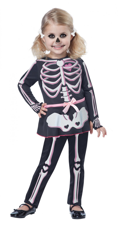 Skeleton Itty Bitty Bones Toddler Costume Size: Large #00166