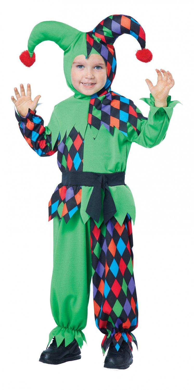 Circus Clown Junior Jester Toddler Costume Size: Medium #00168