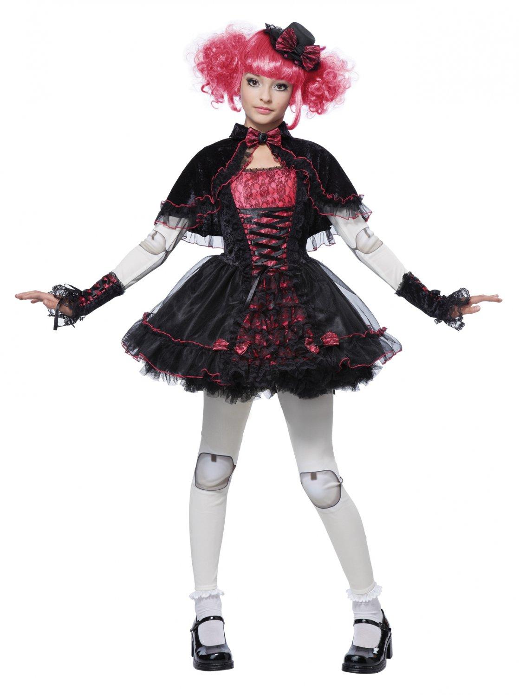 Dark Victorian Doll Child Costume Size: Large #00471