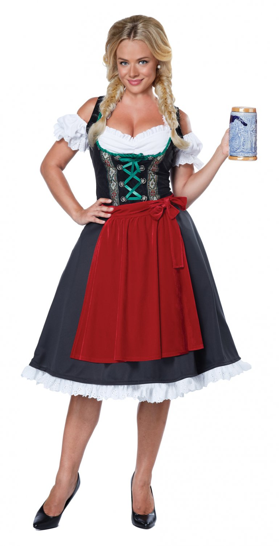 Oktoberfest Fraulein German Waitress Adult Costume Size: Medium #01572