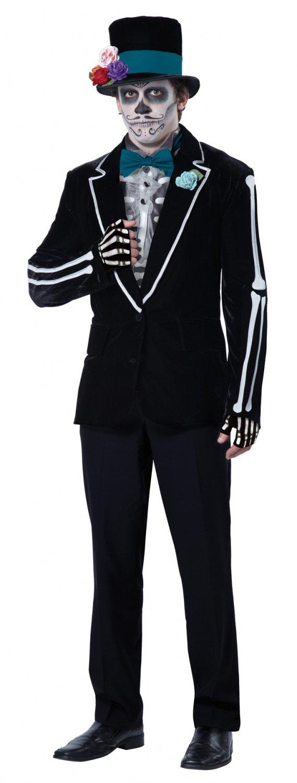 El Novio Muerto Day of the Dead Groom Skeleton Adult Costume Size: Large #01504