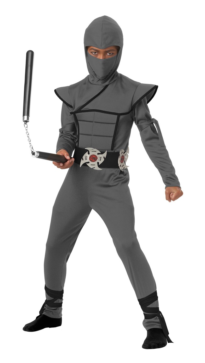 Stealth Ninja Samurai Warrior Child Costume Size: Medium #00504