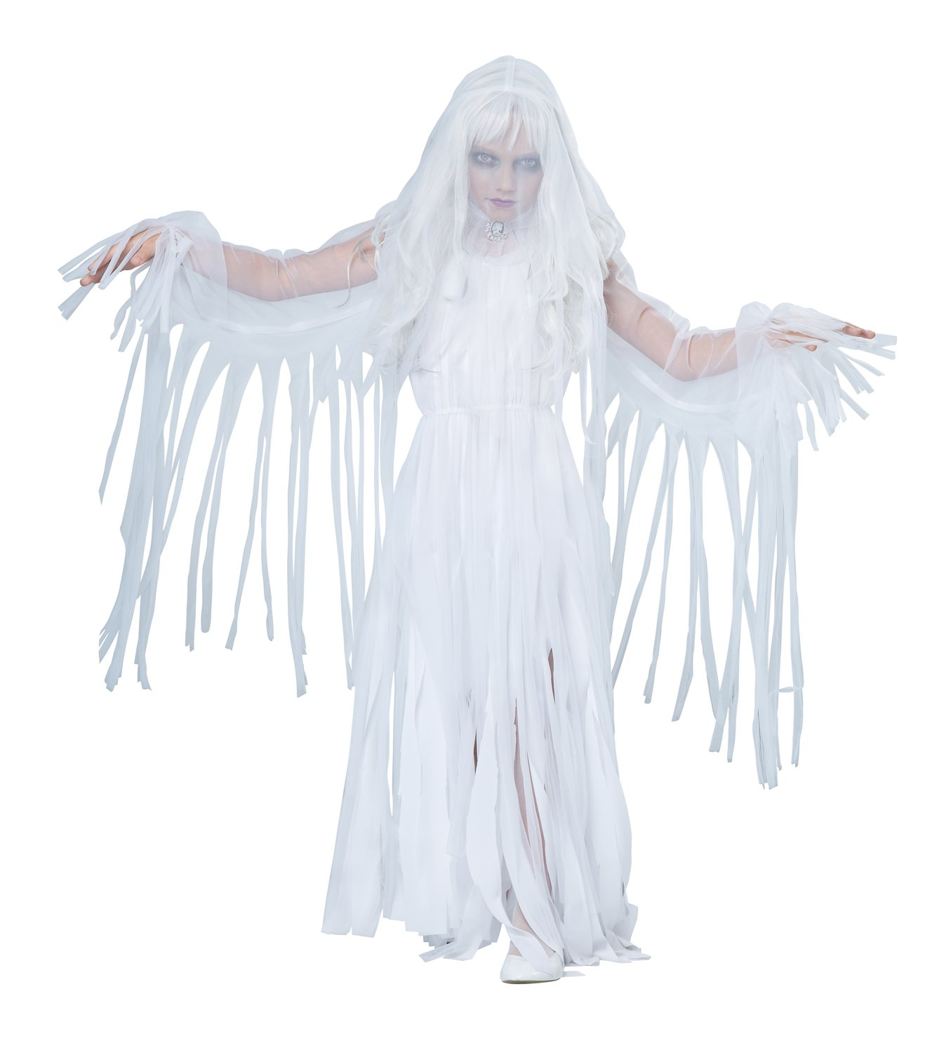 Ghostly Girl Child Costume Size: Large #00489