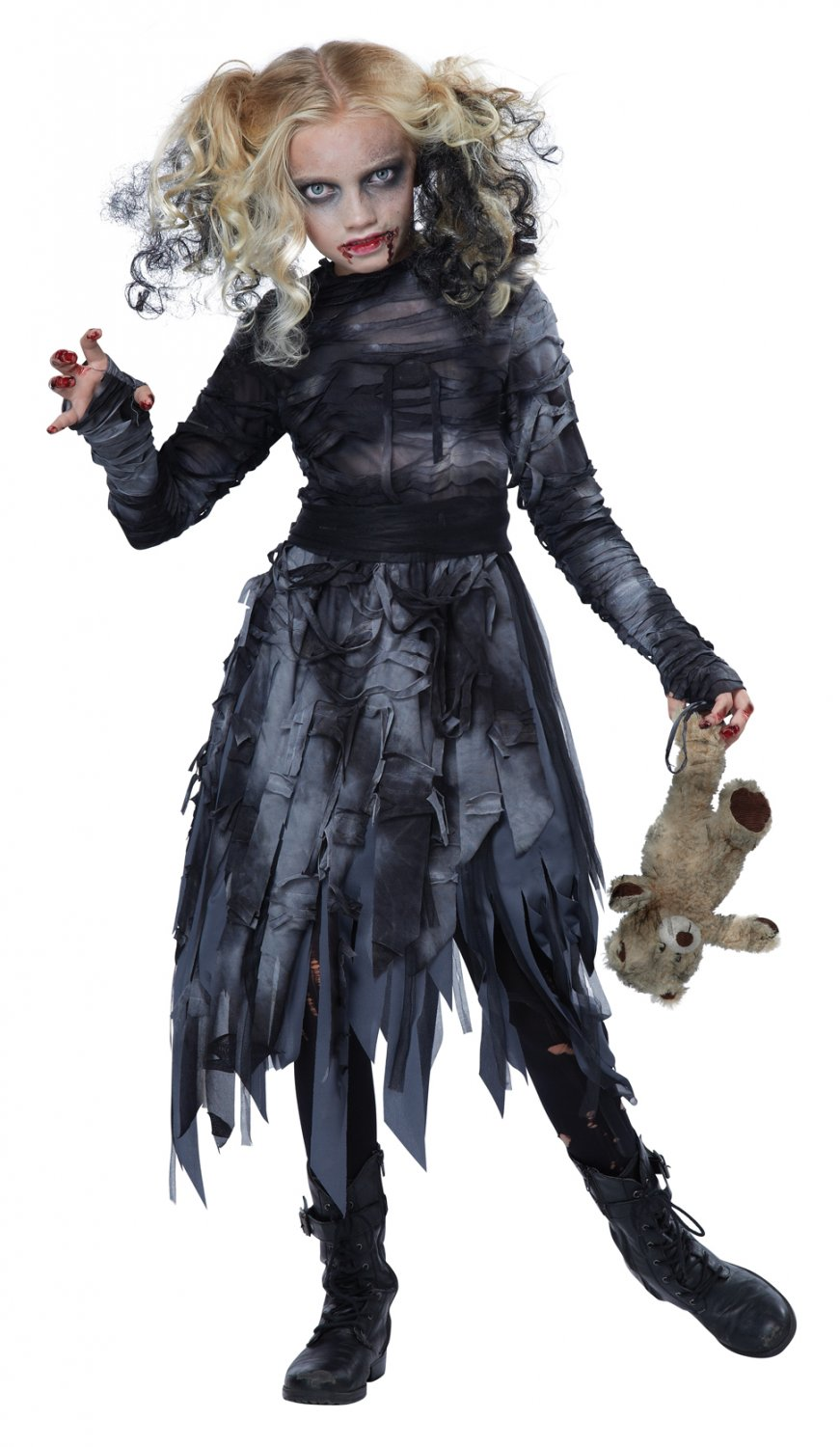 Size: X-Large #00488  Gothic Walking Dead Zombie Girl Child Costume