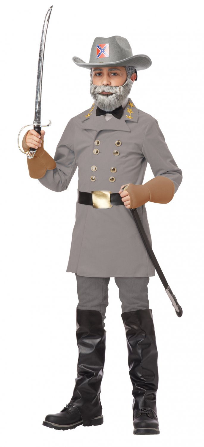 American Confederate Army General Robert E. Lee Child Costume Size: Medium #00482