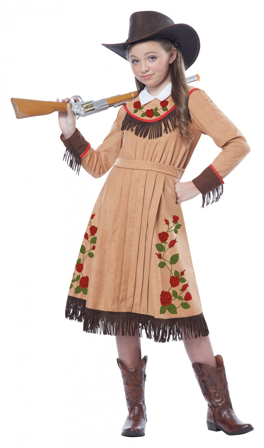 Western Cowgirl Annie Oakley Child Costume Size: Large #00479