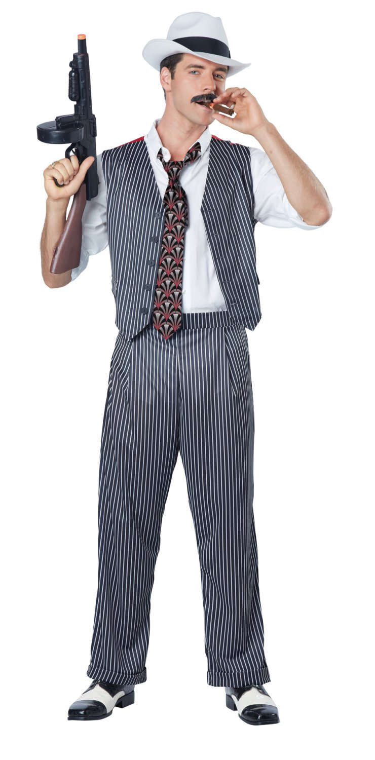 1920's Gangster Mobster Adult Costume Size: X-Large #01582
