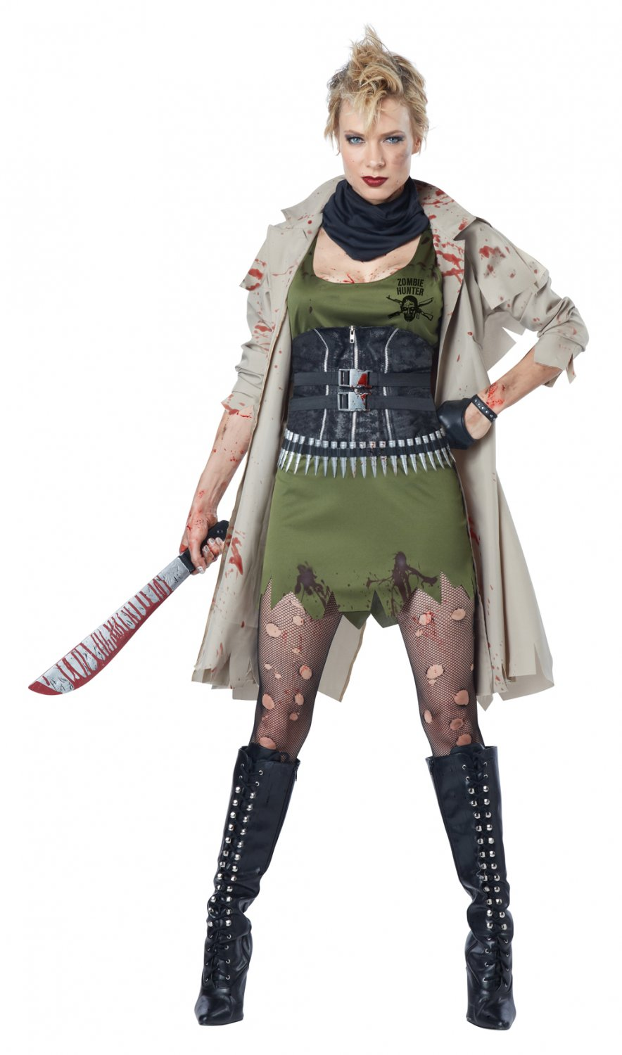 Walking Dead Zombie Huntress Adult Costume Size: Large #01586