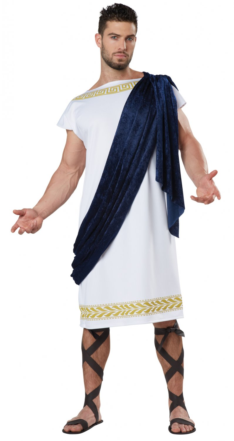 Greek Grecian Toga Adult Costume Size: Medium #01593