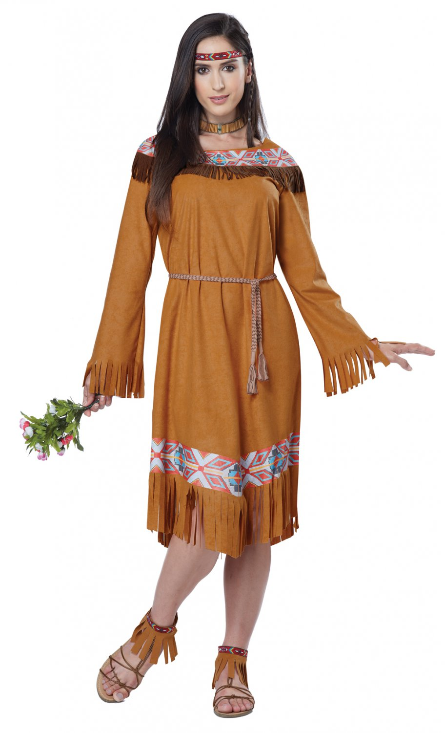Thanksgiving Pocahontas Indian Maiden Adult Costume Size: X-Large #01594