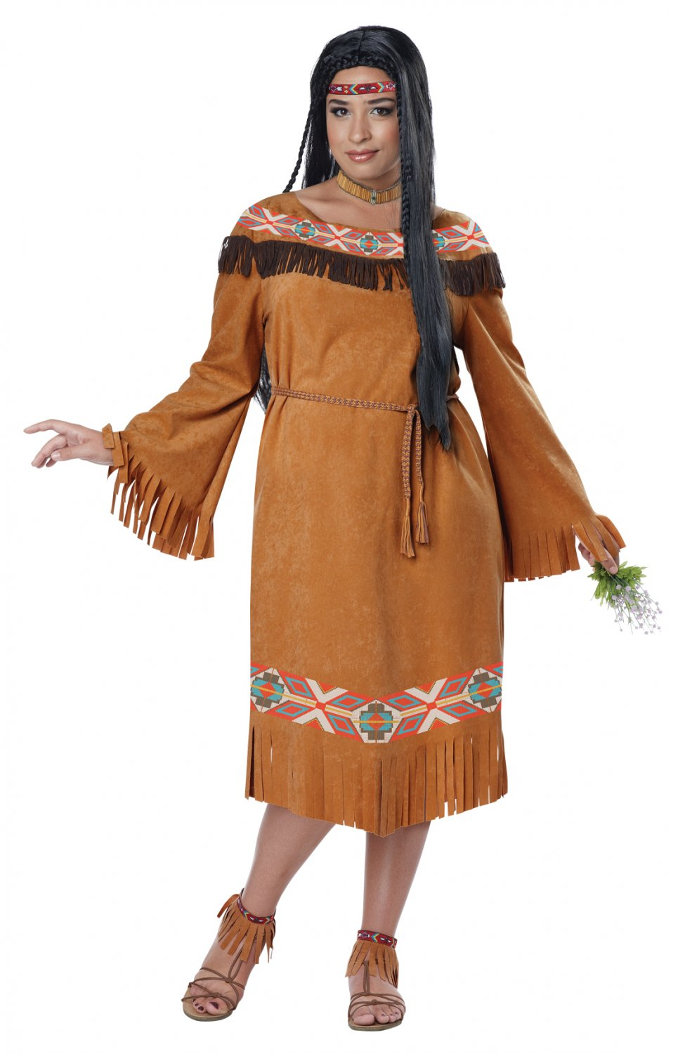 Thanksgiving  Native American Classic Indian Maiden Plus Size Adult Costume: 1X-Large #1754