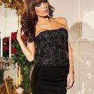 Elizabeth Corset Black Lingerie Adult Costume Size: Medium #BW1242-34