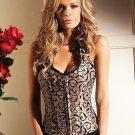 Claudette Corset  Mocha Lingerie Adult Costume Size: Large #BW1220-36