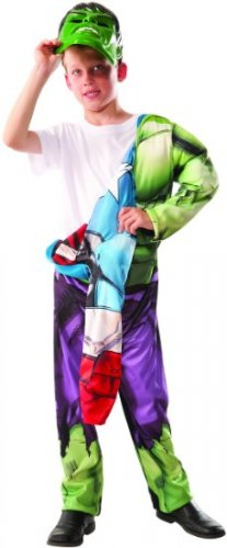 Captain America & Hulk Deluxe Muscle Chest Child Costume Size: Large #620023L