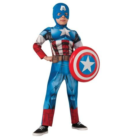 Captain America Muscle Chest Child Costume Size: Small #620021S