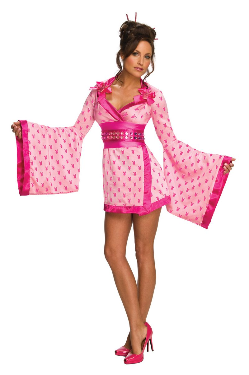 Playboy Sexy Geisha Kimono Adult Costume Size:Large #889636l