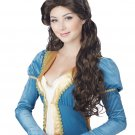 Renaissance Medieval Beauty Adult Costume Wig (Brunette) #70820