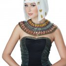 Cleopatra Hair-O-Glyphics Egyptian Wig (White/Gold) #70822