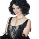1920's Fashion Flapper Savoir Faire Wig (Black)) #70817