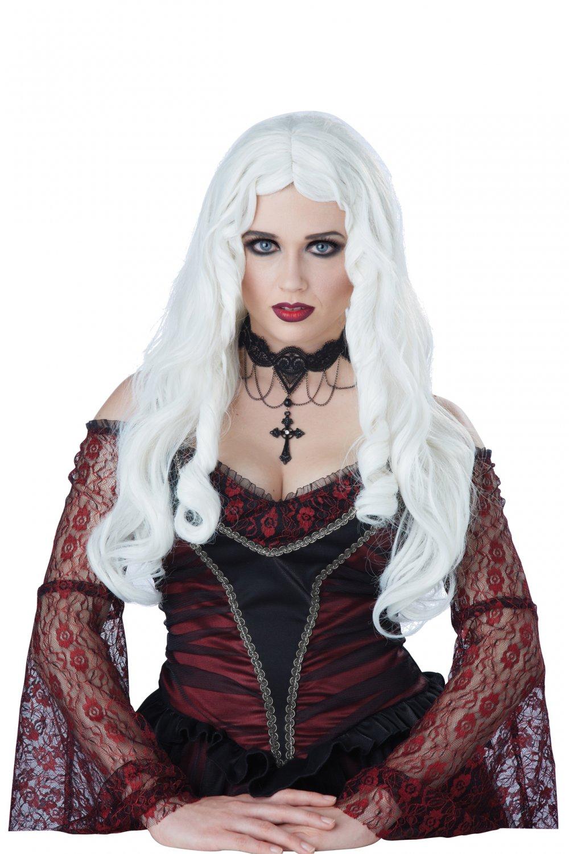 Ghost Demon Vampire Gothique En Blanc Wig (White) #70814