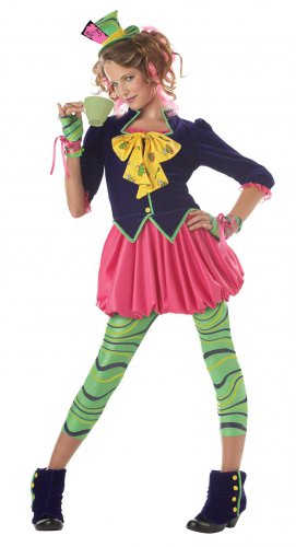 Alice In Wonderland The Mad Hatter Teen Child Costume Size: Teen Jr. (3-5)  #PC5004