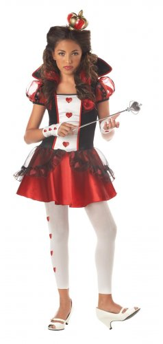 Alice In Wonderland Queen of Hearts Teen Child Costume Size: Jr. (7-9) #04036