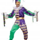 Clown Renaissance  Mardi Gras Jester Adult Costume Size: X-Large #01400