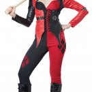 Harley Quinn Psycho Jester Chick Clown Adult Costume Size: Large #01359