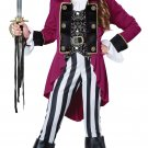 Renaissance Fashion Pirate Captain Buccaneer Child Tween Costume Size: Medium #04089