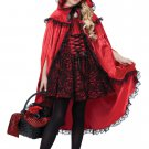 Dark Gothic Deluxe Red Riding Hood Child Costume Size: Medium #00491