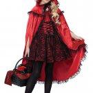 Dark Gothic Deluxe Red Riding Hood Child Costume Size: Medium #00491