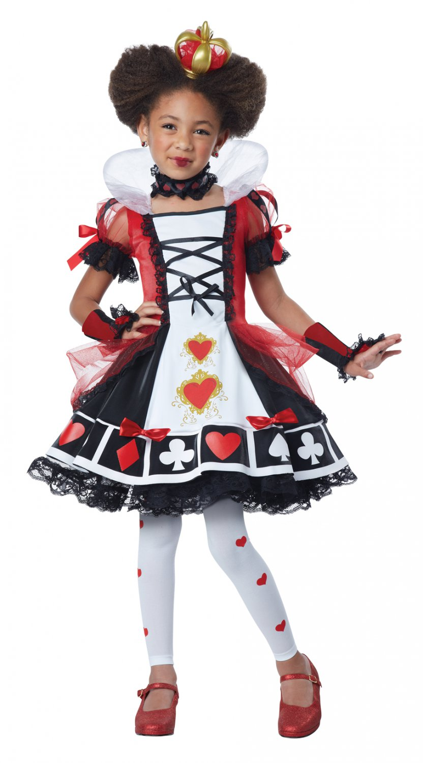 Deluxe Queen of Hearts Alice In Wonderland Child Costume Size: X-Small #00373