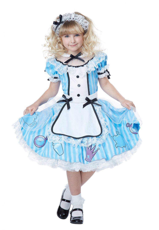 Deluxe Alice In Wonderland Child Costume Size: X-Small #00533