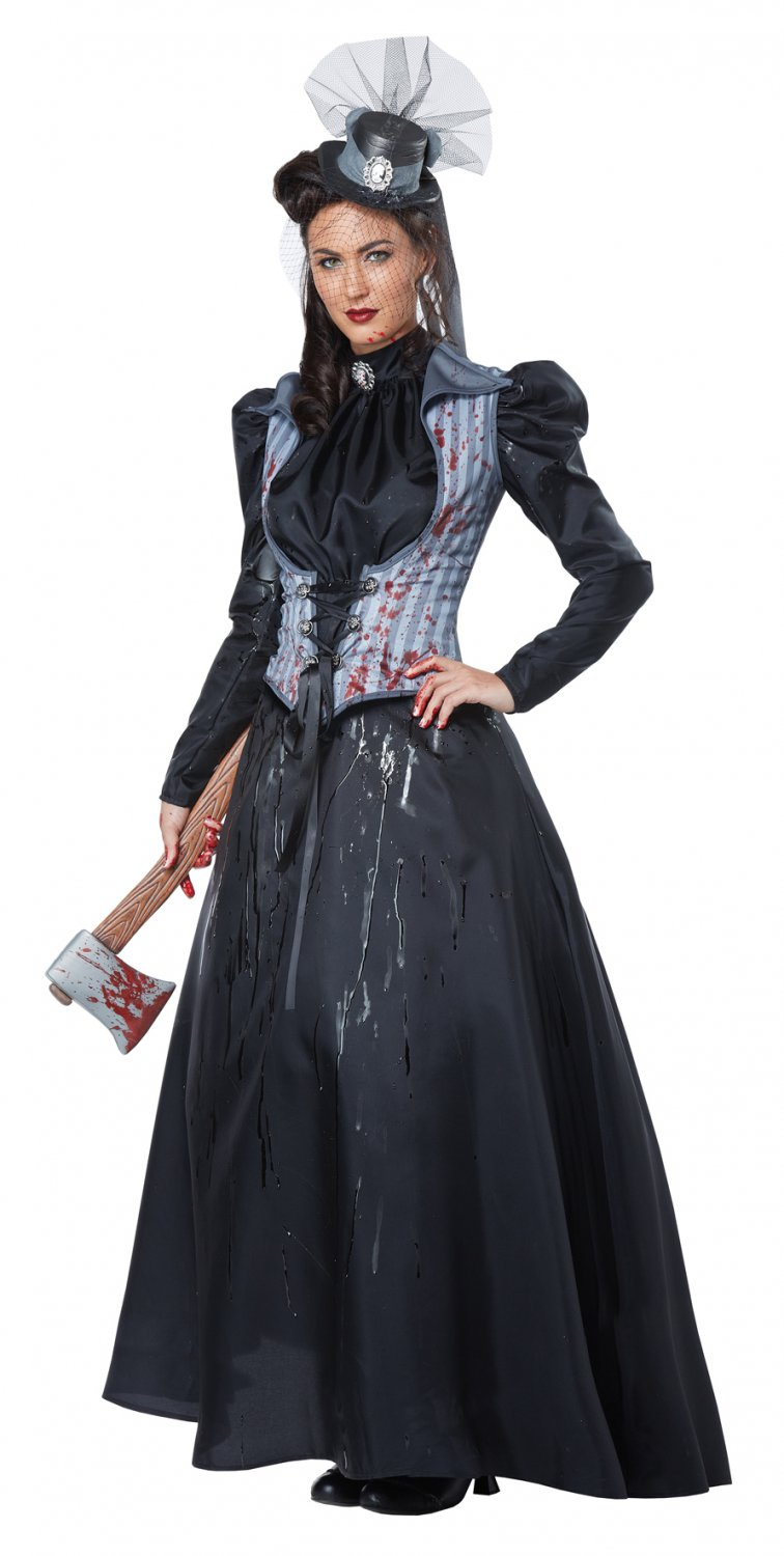 Lizzie Borden Axe Murderess Gothic Adult Costume Size: Large #01386