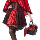 Sexy Dark Gothic Deluxe Red Riding Hood Adult Costume Size: Medium #01300