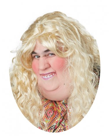 Standard Size: #60500 Catfish Caricature Sexy Fat Lady Diva  Adult Costume Mask