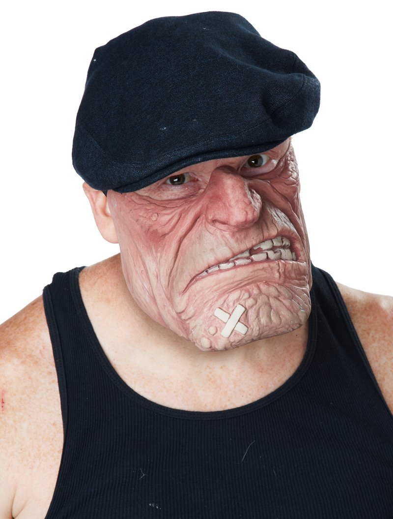 Standard Size: #60588 Street Thug Gangster Comic Book Brawler Adult Costume Mask
