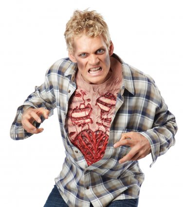 Walking Dead Zombie Cavity Chest Bone Costume Accessory #60680