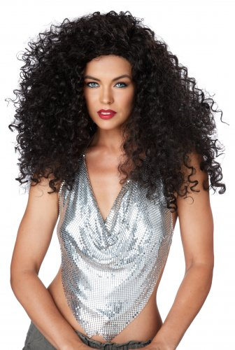 Hollywood Star Disco Diva Do 70's Adult Costume Brunette Wig #70844