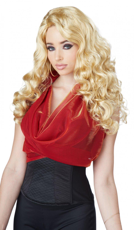 Hollywood Sexy Diva Shockwaves Adult Costume Blonde Wig #70847