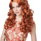 Sexy Diva Rock Star Shockwaves Adult Costume Auburn Wig #70848