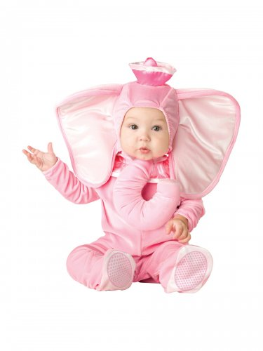 Pink Elephant Infant Baby Costume Size: Large #16005L
