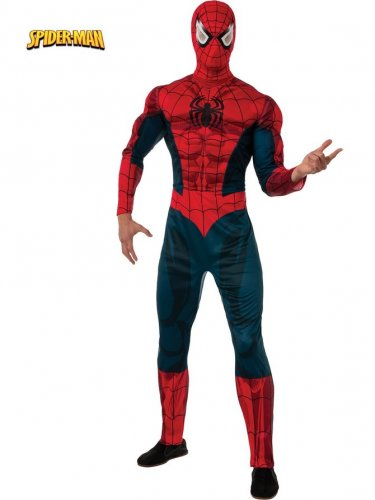 Marvel Spider Man Muscle Chest Adult Costume Size: Standard #880606S
