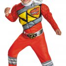 Red Power Ranger Dino Charge Dinosaur Toddler Muscle Child Costume Size: Toddler #82740S
