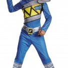 Blue Power Ranger Dino Charge Dinosaur Muscle Child Costume Size: Large #82760L