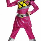 Pink Power Ranger Dino Charge Dinosaur Child Costume Size: Medium #82766M